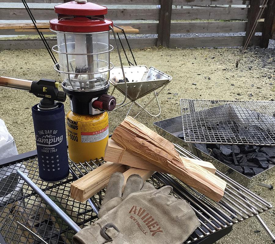 スノーピーク焚き火台 薪の準備